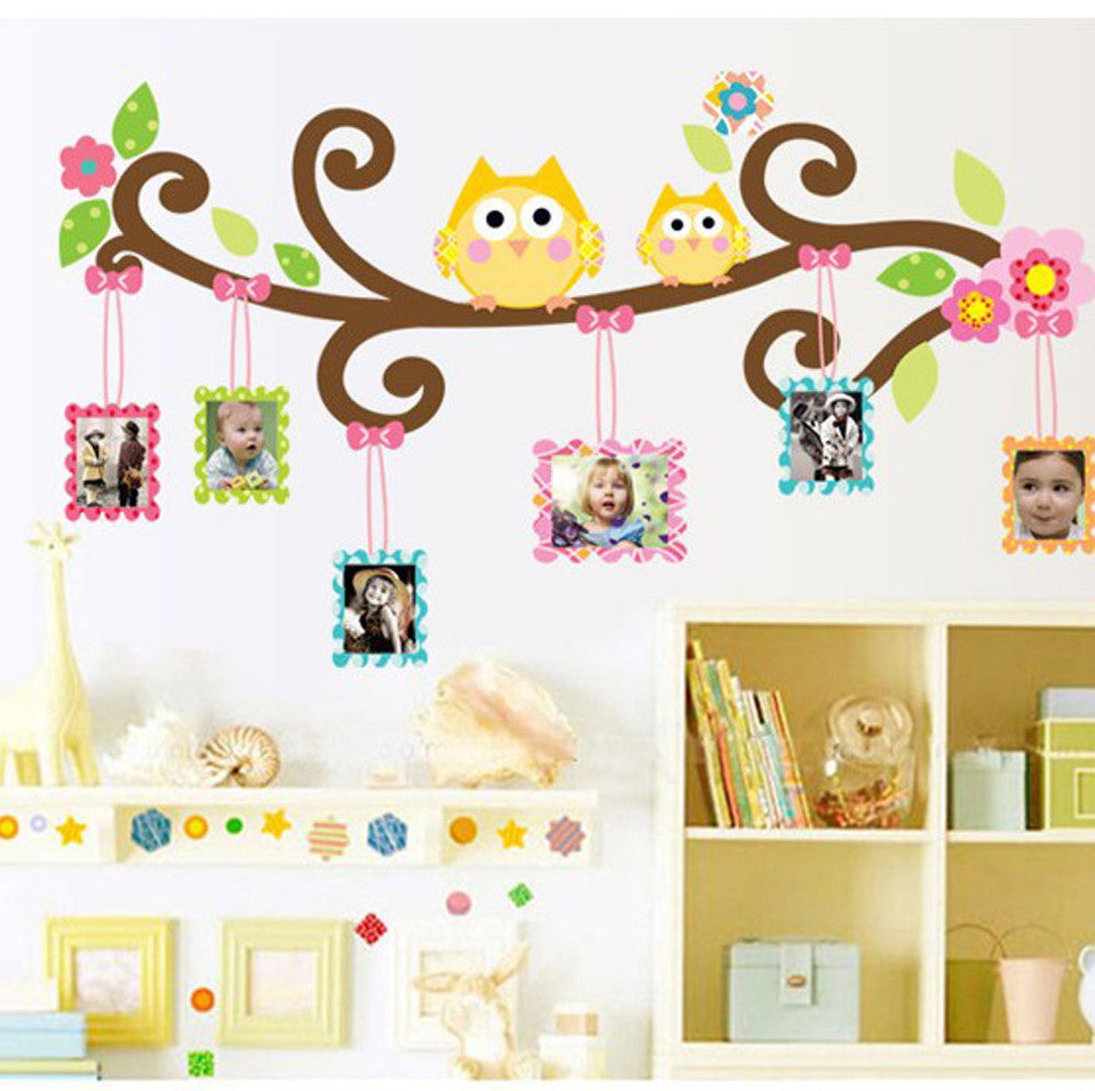 Wall Stickers Cartoon Owl Children Picture Decals Wall Art Mural