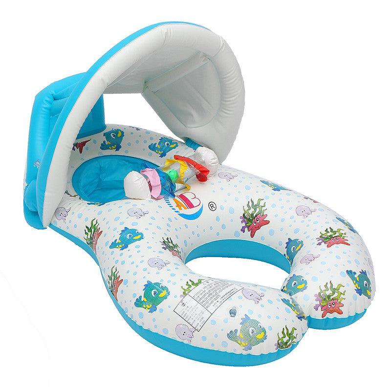 Swimming Pool Baby Swim Seat Float Inflatable Swimming Circle Mother And Baby Swim Sunshade