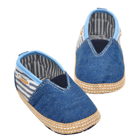 Casual Baby Shoes First Walkers For Kids Baby Boys Girls Stripes Blue Canvas Sneakers Toddler Shoes