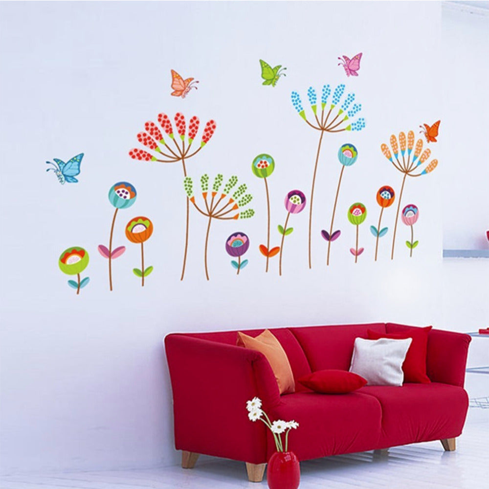 Cartoon Butterfly Flower Wall Sticker Baby Room Nursery Kids Decor Decal Popular Decoration
