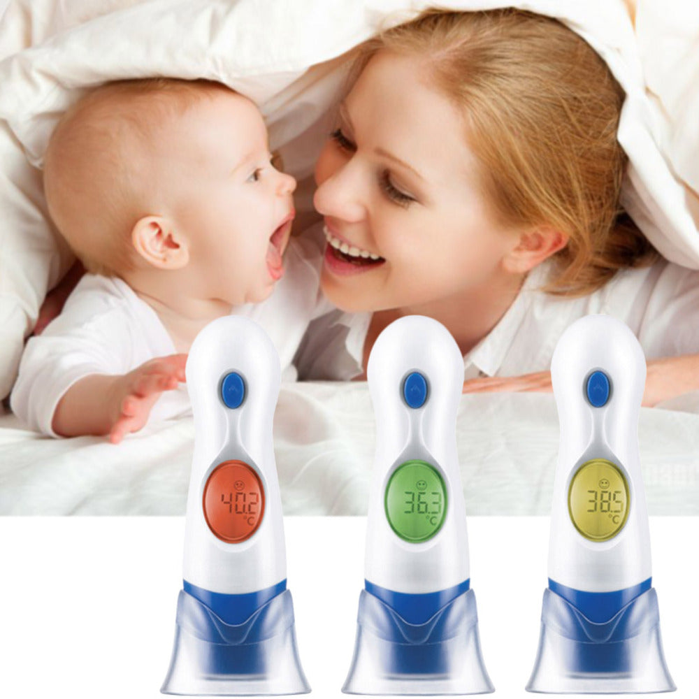 4 In 1 LCD Digital Electronic Infrared Ear & Forehead Thermometer Child Family Home Health Care