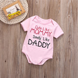 Cute Like Mommy Smelly Like Daddy Baby Onesie