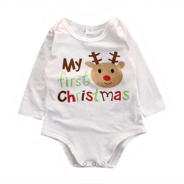 Kids Toddler Infant Baby Boys Girls Deer Bodysuit Jumpsuit Cotton Casual Clothes Cute Outfits 0-12M