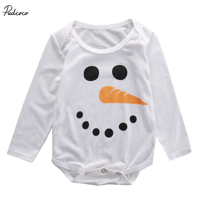 Newborn Baby boys girls Snow man onesie Infant Babies Boy Girl Cartoon Outfits Kids