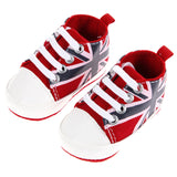 Toddler UK Flag Sneakers Baby Shoes Kids Classic Soft Bottom Anti-slip T-tied Sports Newborn
