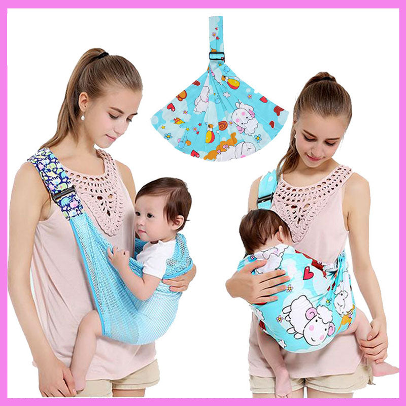 Womens Mens Single Shoulder Baby Carrier Functional Toddle Baby Hiking Warp Sling Carrier 0~3Y