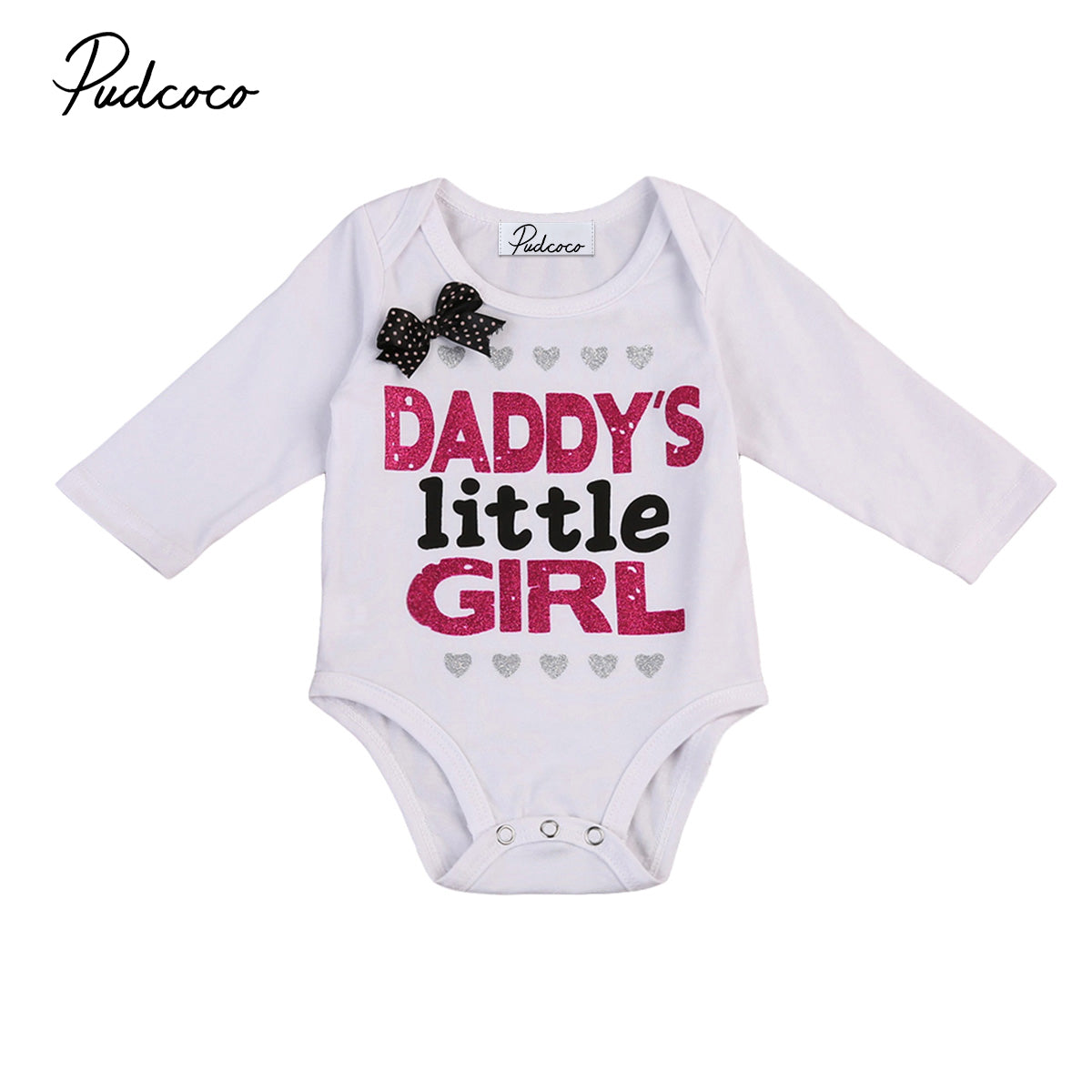 Pudcoco 2019 Hot Selling Funny Letter Print 0-24M Newborn Baby Girls Bodysuits Short&Long Sleeve