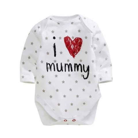 Newborn Baby Boy Girl Long Sleeve Bodysuit Jumpsuit Cotton Clothes 0-12M