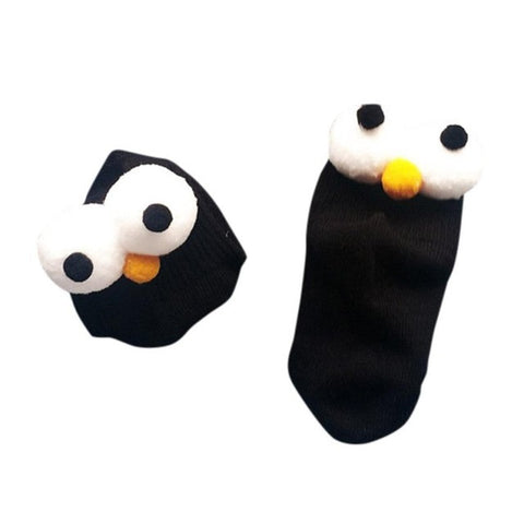 Cotton Short Eyes Socks for Toddlers