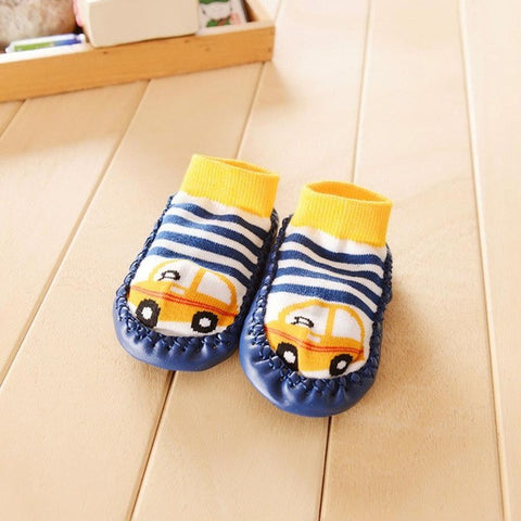Cartoon Kids Toddler Baby Anti-slip Sock Shoes Boots Slipper Socks shoes for girls children footwear