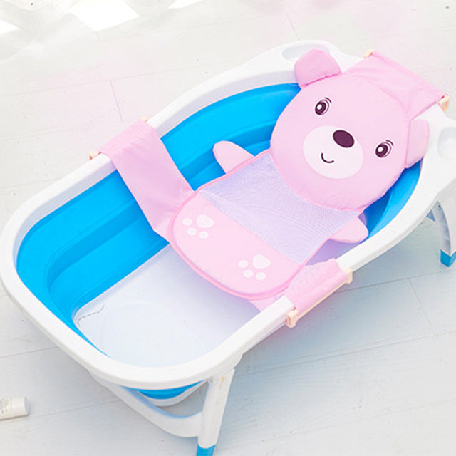 Baby Cartoon Panda Kids Newborn Adjustable Tub Pad Portable Non-Slip Bath Bed Tubs Shower Seat