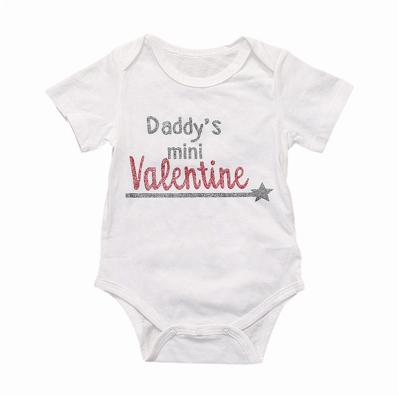Infant Toddler Newborn Baby Boys Girls Bodysuit Daddy's Girl Jumpsuit Outfits Sunsuit Casual Clothes