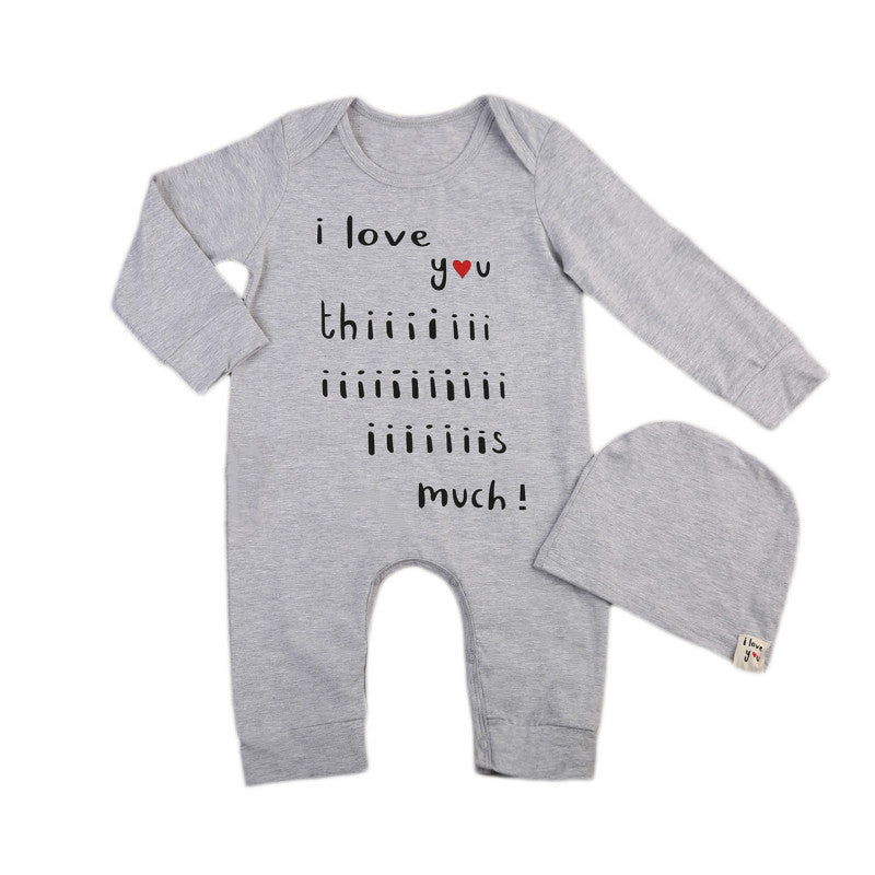 Newborn Baby Boys Girls Autumn Long Sleeve Romper Bodysuit Jumpsuit Hat Casual Outfits
