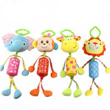 1pc Lovely Baby Rattles Mobiles Infant Crib Activity Stroller Hanging Plush Toy Mini Doll With Ring