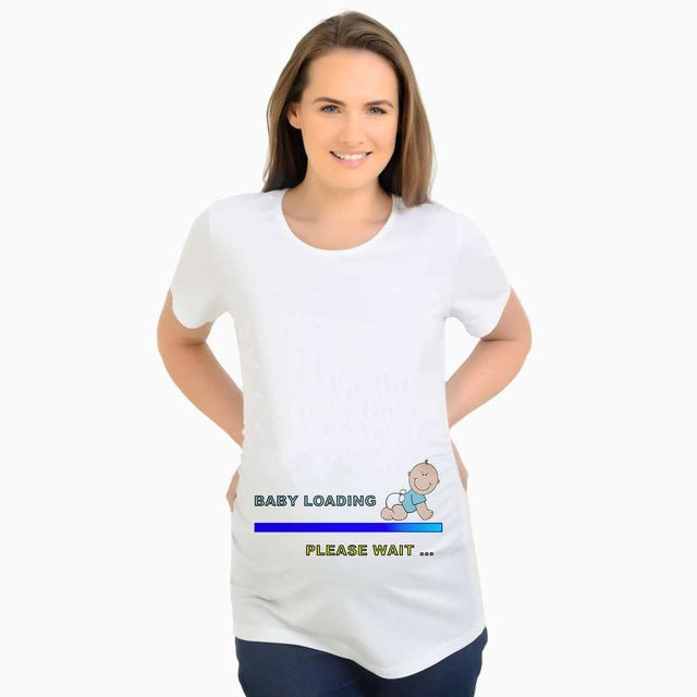 Maternity Tops T-Shirts Funny Pregnancy Clothes Tees Gravida Top Casual T Shirts
