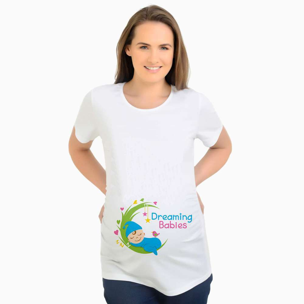 MAGGIE'S WALKER Maternity T Shirt for Pregnant Women Funny Design Plus Size T Shirts Maternity
