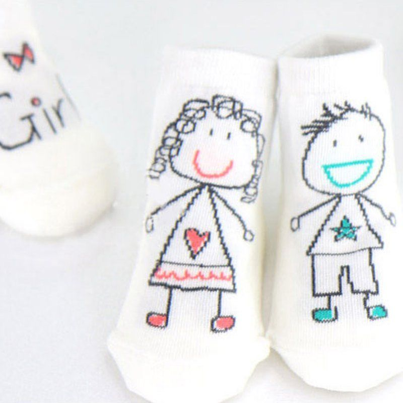 Newborn Baby Socks Cotton Boys Girl print Cute Anti-slip Sock Infant Kids Cartoon Socks Christmas