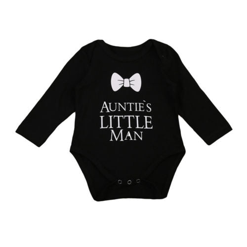 Nebworn Infant Baby Boy Bodysuits Jumpsuit Long Sleeve Outfits Black White Cotto