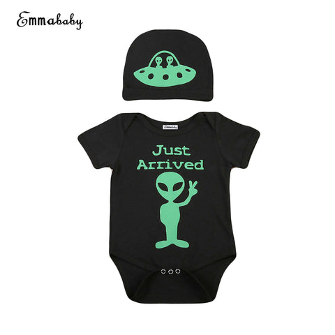 BabyMomPlanet 2 Piece Alien Just Arrived Onesie