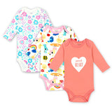 Cotton Baby Bodysuit Newborn Cotton Body Long Sleeve Underwear Infant Boy Girl Pajamas