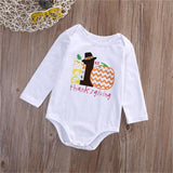 Newborn Infant Baby Girls Thanksgiving Cotton Long Sleeve Romper Jumpsuit Baby