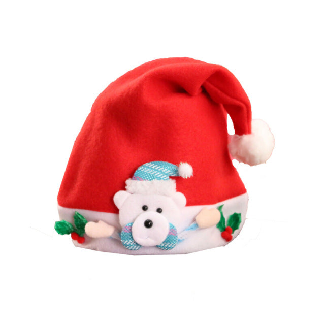 2019 Toddler Christmas Hat Cute Baby Boys And Girl Warm Cap Autumn Winter Kids Hat