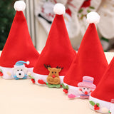 1PC Cute Red Santa Claus Christmas Elk Red Hat Cozy Soft Warm Children Santa Headgear For Merry