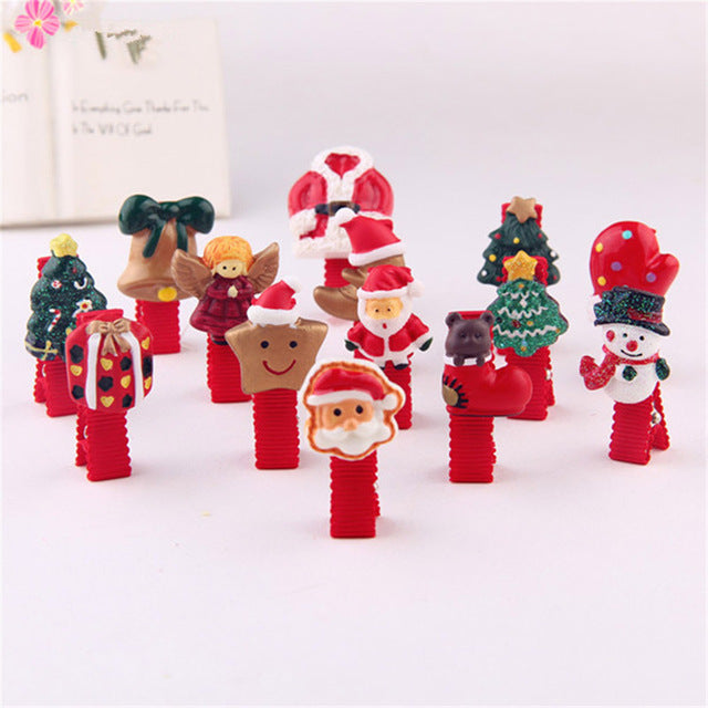 Hair Clips Snap hair Accessories Solid Red Christmas Barrettes Head Hairpins Jewelry Party