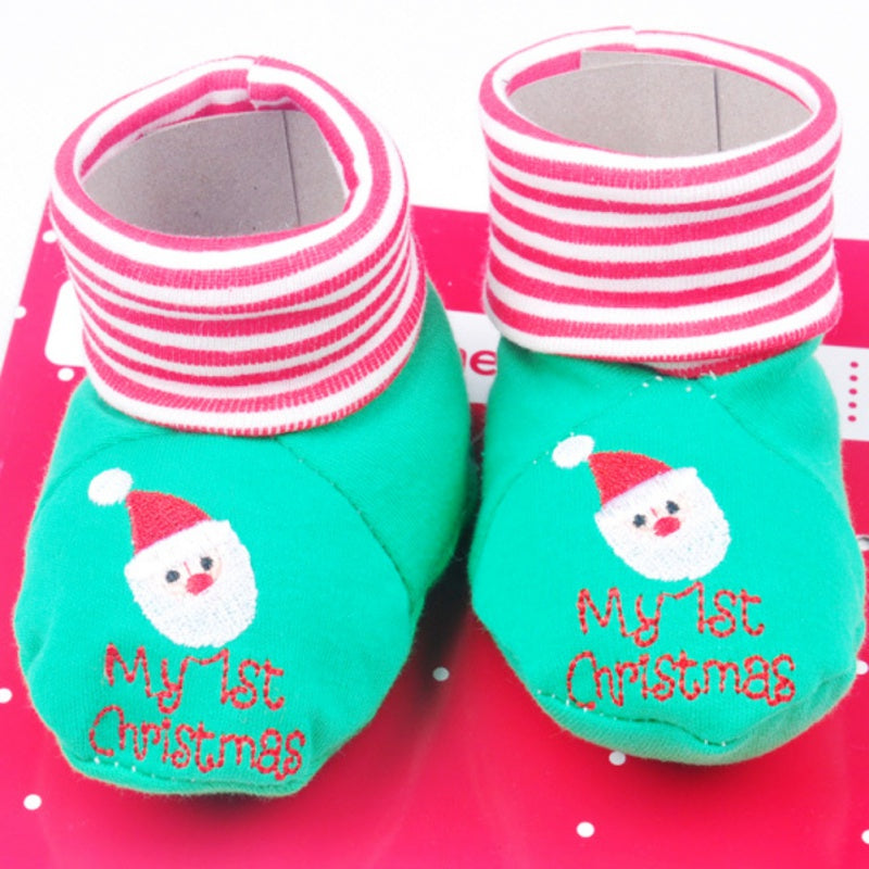 Toddler Cotton Baby Socks Christmas Socks For Newborns Anti Slip Soles For Child Boy Girl
