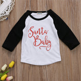 CANIS New Style Christmas Kids Baby Girls Boys Clothes Cotton Long Sleeve T-shirt Tops Baby Clothing
