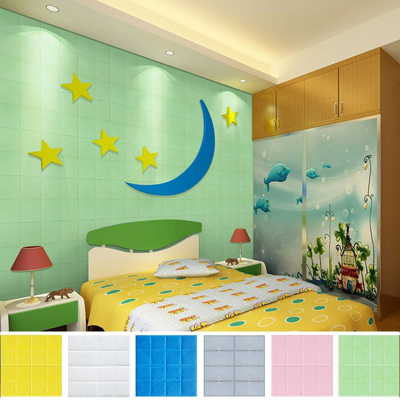 Edge & Corner Guards Wall Stickers Colored Crash Proof 3D Decals Kids Playroom Safe Protection