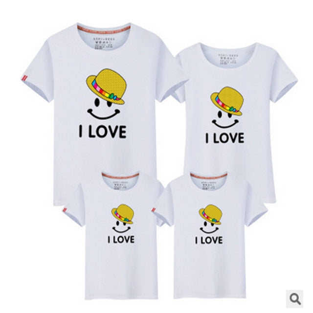LD10060 summer lovers clothes matching clothes matching clothes family matching outfits parents babies Dad Mom Baby T-shirts