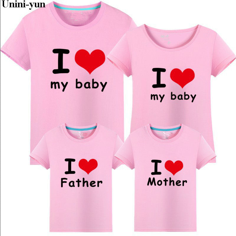 10960419eb ... Unini-yun 2019 summer Kids Baby Girls Womens Mom Daughter Family  Matching T Shirts Clothes