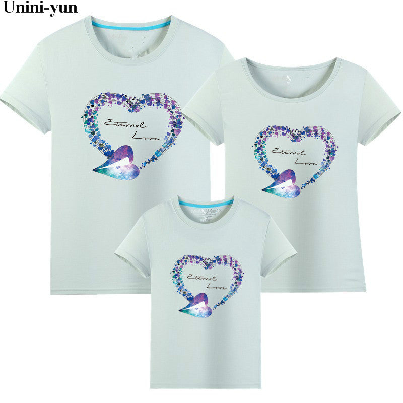 2019 Family Matching Girls Clothing T-Shirt MOM Women DAUGHTER Tops Women Infant Kids Girls Tee Tops father and son summer cloth
