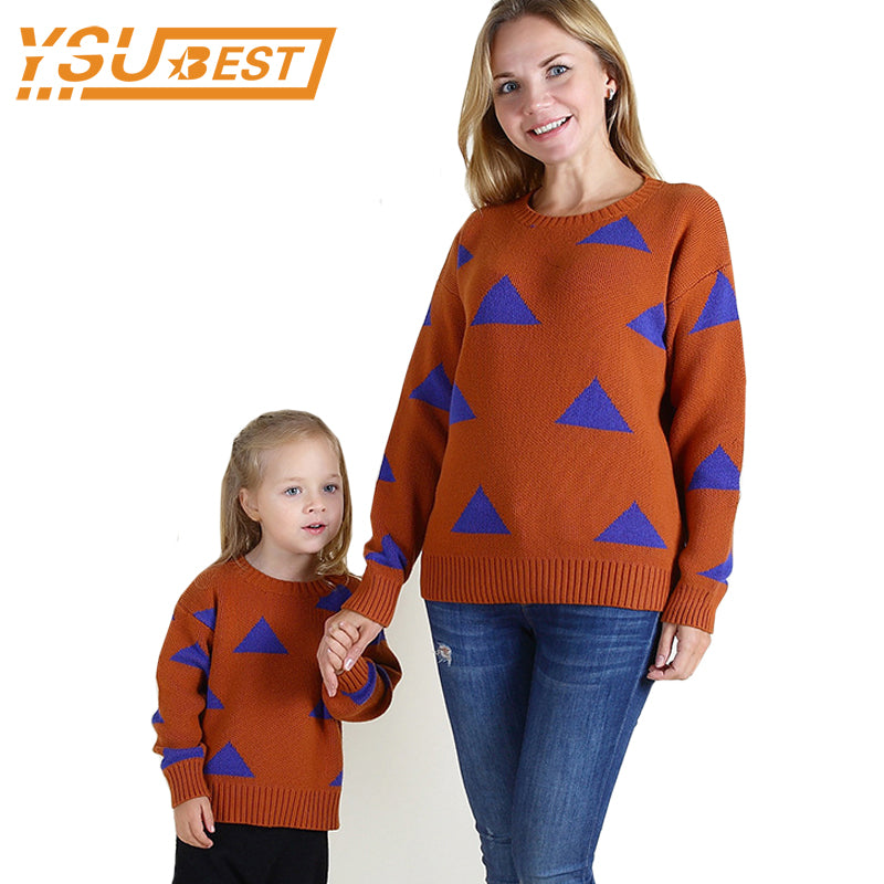 874009de9a Spring Parent-Child Outfits Sweaters Family Matching Outfits for Mother &  kids Shirt Attire Family