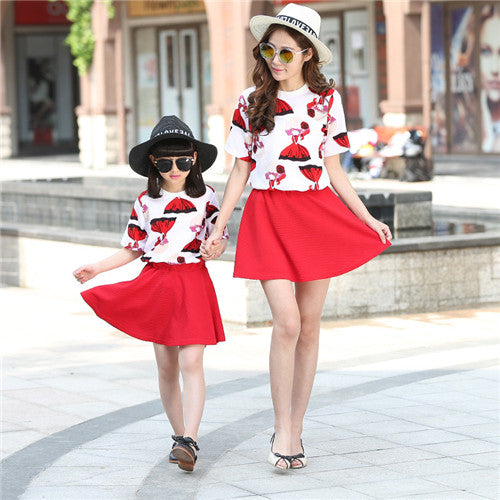 Family look kit mom and daughter family kits mom and daughter Family Matching Outfits ASHF-JIN-16045-1P