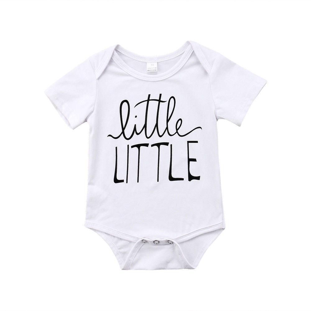 Toddler Baby Boys Girls Brother Sister Match Bodysuit Romper Tops T-shirt Family Matching Outfits White 0-5T