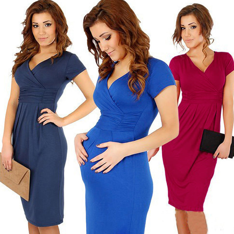 New Maternity Casual Dresses Clothes for Pregnant Women Plus Size XL Summer Women Dress