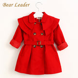 Bear Leader Children Clothing Outerwear&Coats Girls Trench Coats Jackets Long Sleeve