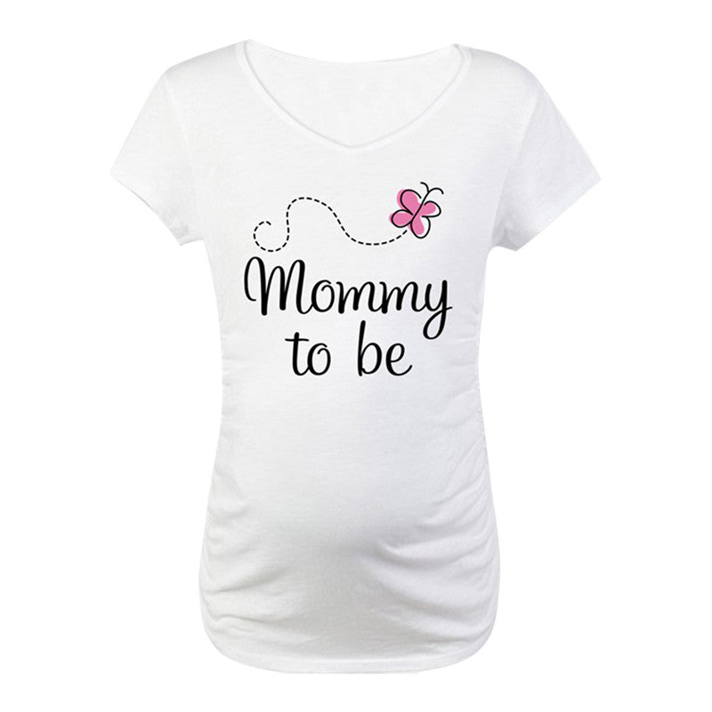 Pregnant Maternity T Shirts Short Sleeve Women T Shirt Pregnancy Mommy To Be Maternity Tees