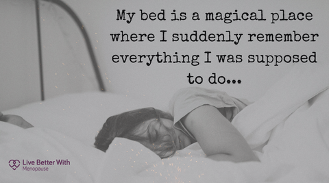 My bed is a magical placec where I suddenly remember everything I was supposed to do - funny quote