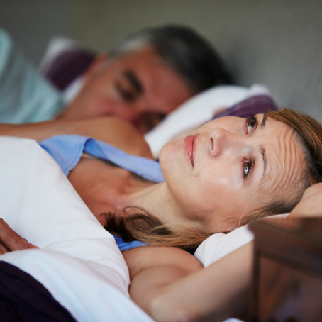 difficulty sleeping during the menopause