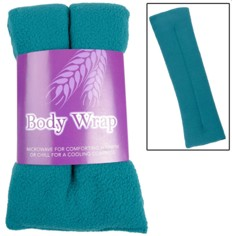 The fleecy microwavable wrap can be heated and used to soothe aching muscles from menopause.