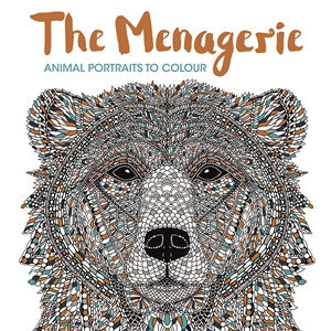 Calming colouring book with beautiful images of animals to help reduce stress during the menopause.