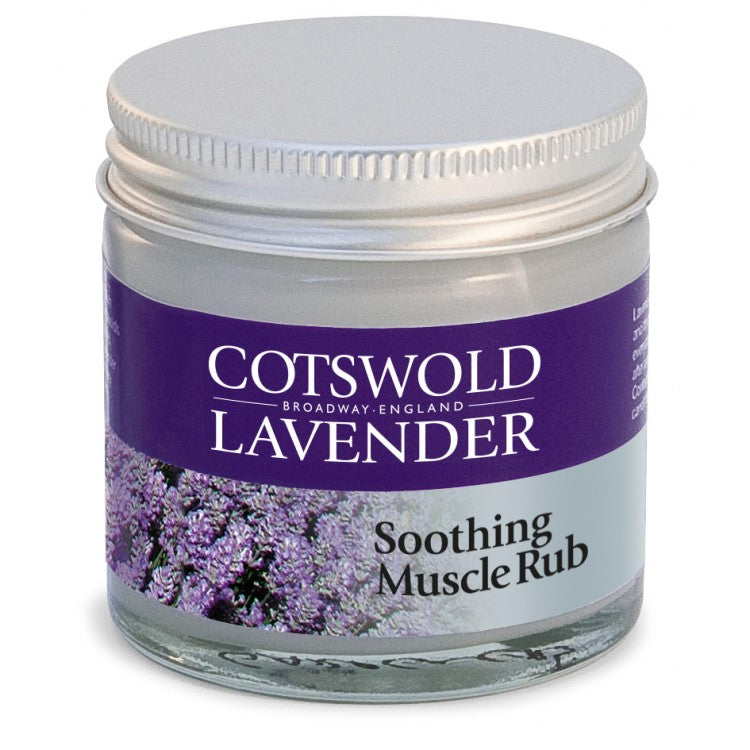 Muscle Rub containaining Lavender oil with rosemary and thyme extracts