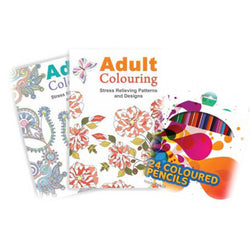 Colouring kit to help with stress and anxiety during the menopause.