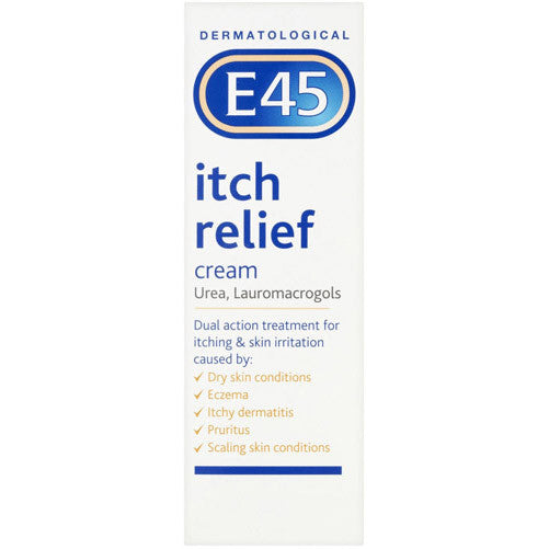 E45 itch relief cream can help to soothe scaly, dry, itchy skin caused by the menopause.