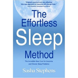 Book about the effortless sleep method to help with menopause insomnia.