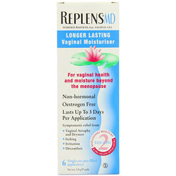 Replens MD Vaginal Moisturiser provides soothing, safe and long-lasting relief of vaginal dryness caused by menopause.