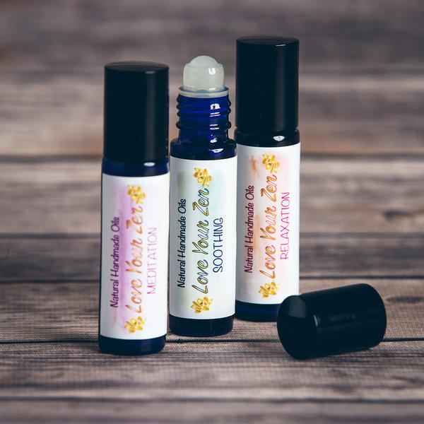 These gentle, soothing aromatherapy rollerballs use essential oils to help you relax and unwind during stressful moments.